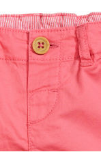 Cotton shorts - Coral pink -  | H&M CA 2