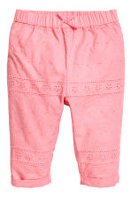 Cotton trousers - Pink - Kids | H&M 1