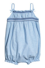 Cotton romper suit - Light blue/Chambray - Kids | H&M 1