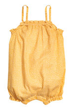 Cotton romper suit - Yellow/Spotted - Kids | H&M 1