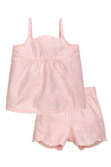 Top and shorts - Light pink - Kids | H&M CN