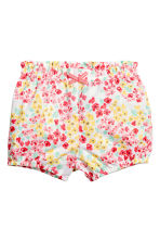 Cotton shorts - White/Floral -  | H&M GB 1