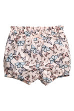 Cotton shorts - Light pink/Butterflies -  | H&M CA 1