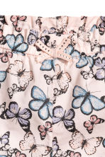 Cotton shorts - Light pink/Butterflies -  | H&M 2
