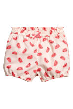 Cotton shorts - Light pink/Watermelon - Kids | H&M 1