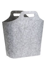 Large felt storage basket - Light grey - Home All | H&M CN 1