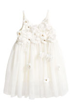 Tulle dress - Natural white -  | H&M 2
