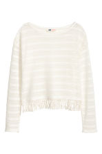 Top con motivi traforati - Bianco naturale -  | H&M IT 2