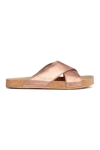 Leather sandals - Rose gold -  | H&M CN 1