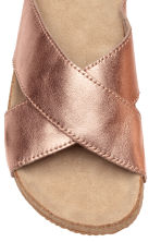 Leather sandals - Rose gold -  | H&M CN 3