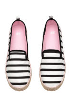 Canvas espadrilles - Black/Striped -  | H&M CA 2
