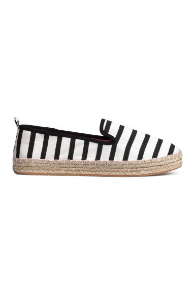 Canvas espadrilles - Black/Striped -  | H&M CA 1