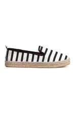 Canvas espadrilles - Black/Striped - Kids | H&M 1