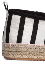 Canvas espadrilles - Black/Striped -  | H&M CA 3