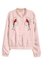 Embroidered bomber jacket - Powder pink - Ladies | H&M 2
