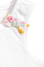 Vest top and frilled shorts - White/Floral - Kids | H&M 3