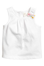 Vest top and frilled shorts - White/Floral - Kids | H&M CN 2
