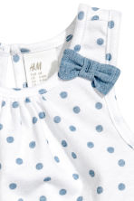 Vest top and frilled shorts - White/Blue -  | H&M 3