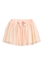 Gonna in tulle plissettata - Rosa cipria -  | H&M IT 2
