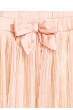 Gonna in tulle plissettata - Rosa cipria -  | H&M IT 3