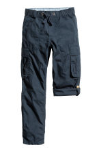 Generous fit Cargo trousers - Dark blue - Kids | H&M 1