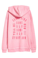 Printed hooded top - Light pink - Men | H&M 3