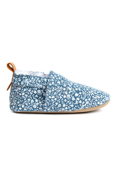 Soft slippers - Blue/Floral - Kids | H&M 1