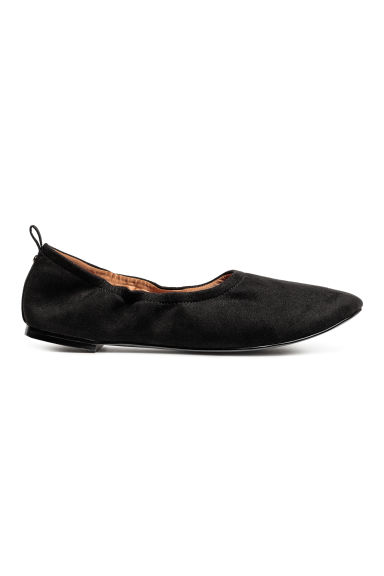 Soft ballet pumps - Black - Ladies | H&M CN 1