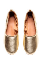 Soft ballet pumps - Gold - Ladies | H&M 2