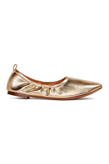 Soft ballet pumps - Gold - Ladies | H&M CN 1