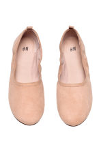 Soft ballet pumps - Powder beige - Ladies | H&M CN 2