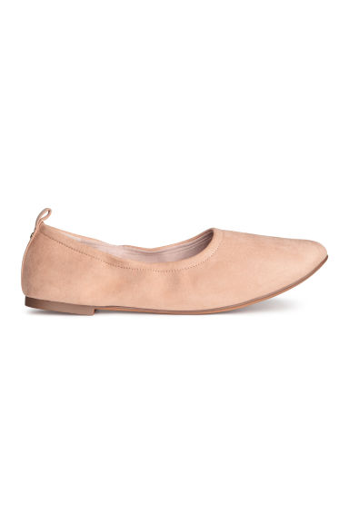 Soft ballet pumps - Powder beige - Ladies | H&M CN 1