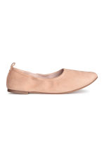Soft ballet pumps - Powder beige - Ladies | H&M 1