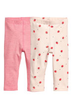 2-pack leggings - Pink/Striped - Kids | H&M 1