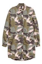 Cotton parka - Khaki green/Patterned - Ladies | H&M 2