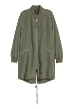 Modal-blend jacket - Khaki green - Ladies | H&M GB 2