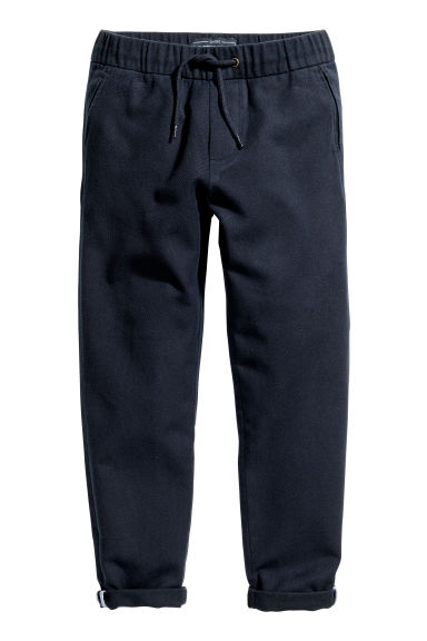 Pull-on cotton trousers - Dark blue - Kids | H&M