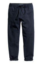 Pull-on cotton trousers - Dark blue - Kids | H&M 1