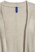 Ribbed cardigan - Beige - Men | H&M CN 3
