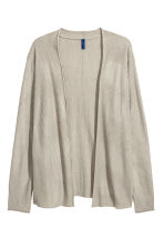 Ribbed cardigan - Beige - Men | H&M CN 2