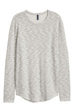 Loose-knit jumper - Grey marl - Men | H&M CN 2