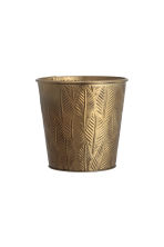 Maceta mini en metal grabado - Dorado - HOME | H&M ES 1
