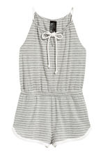Jersey playsuit - Grey/Striped - Ladies | H&M 2