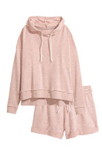 Lounge set with top and shorts - Old rose - Ladies | H&M 2