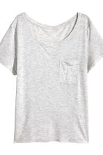 Pyjamas with a top and shorts - Light grey marl - Ladies | H&M 4