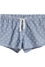 Pyjamas with a top and shorts - Light grey marl - Ladies | H&M 3
