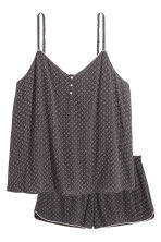 Pyjamas with cami and shorts - Black/Patterned - Ladies | H&M 2