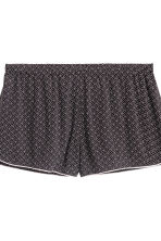 Pyjamas with cami and shorts - Black/Patterned - Ladies | H&M CN 3