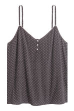 Pyjamas with cami and shorts - Black/Patterned - Ladies | H&M CN 4