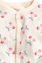 Printed all-in-one pyjamas - Natural white/Cherry -  | H&M CN 2